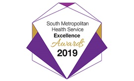 Logo reads South metropolitan Health Service Excellence Awards 2019