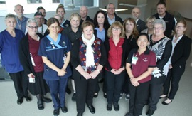 A group of a range of hospital staff