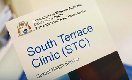 The cover page of a brochure for the Fremantle Hospital South Terrace Clinic