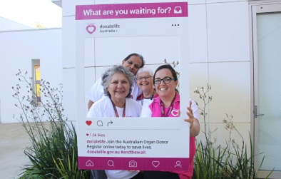 Left to right: Aboriginal Health Liaison Officer, Lorraine Woods, Medical Co-director Acute and Community Medicine Dr Bheemasenachar Prasad, Consumer Advisory Council Member Beth Philipps and DonateLife Clinical Nurse Consultant Renee Deleuil
