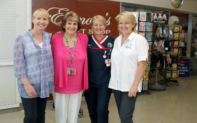 Julie Russell, RGH Auxiliary President Joan Salter, Sue Thomas and Lynda Deacon